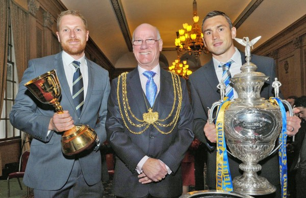Triumphant Yorkshire CCC And Leeds Rhinos Given City Civic Reception