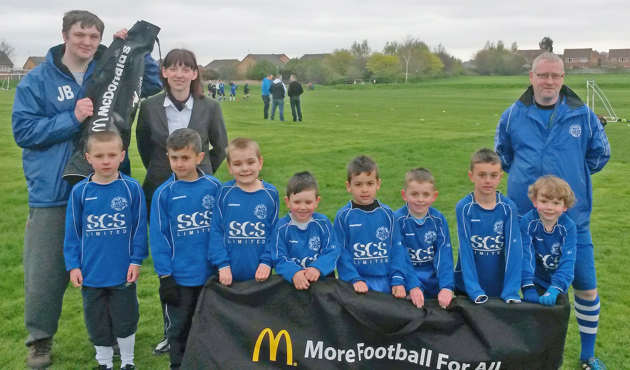 Glen Juniors AFC Boosted By McDonald's Football Equipment Donation