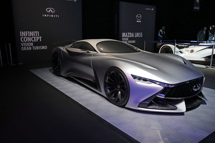 infiniti concept vision displayed at gran turismo gt. Black Bedroom Furniture Sets. Home Design Ideas