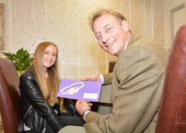 Brown & Gold Competition Winner Presented With Bracelet In Time For Christmas