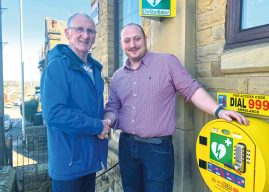 DEFIBRILLATOR  AT THE  HEART OF CHURWELL