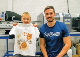 Budding Young Artist  Sees His Work Transformed Into A  T-Shirt After Winning Competition