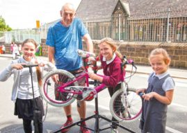 ARMLEY PUPILS MAKE THE MOST OF TRAFFIC-FREE STREET WITH BIKE MAINTENANCE SESSIONS