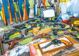 NINETY FIREARMS INCLUDING SHOTGUNS AND A RIFLE SURRENDED TO POLICE