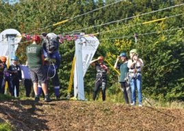 Otley Pupils Step Up And Take Flight At Launch Of Brand New Zip Wire At Herd Farm