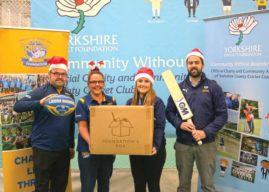 Yorkshire Cricket Foundation  And Leeds Rhinos Foundation Team Up With 'The Foundation's Box' This Christmas