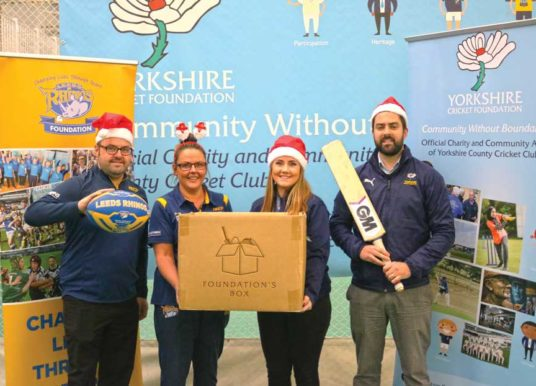 Yorkshire Cricket Foundation  And Leeds Rhinos Foundation Team Up With 'The Foundation's Box' This Christmas