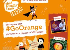 Go Orange and join Child Friendly Leeds Live Online – August 5
