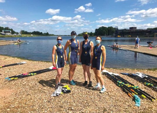 Leeds Rowing Club Women's Team Win Gold At The British Rowing Masters Championship