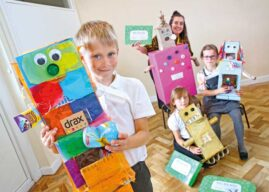 Schoolchildren Rise To Drax's Recycled Robots Challenge